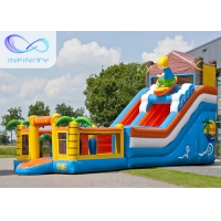 China 6.5m Beach Water Jumping 4 In 1 Inflatable Water Slides on sale