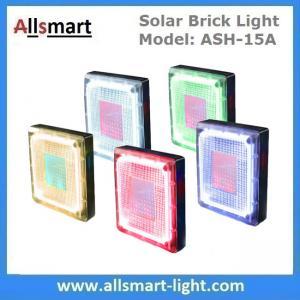 "China 8""x 8"" inch Square Solar Paver Lights Patio Solar Brick Lights Garden Landscaping Solar Underground Inground Lights wholesale"