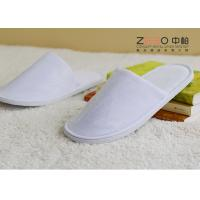 Quality Cut Velvet Personalised Hotel Slippers , White Terry Cloth Slippers DS-002 for sale