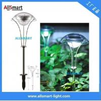 China RGB Stainless Steel Solar Spike Pathway Light Solar Stake Light Solar Mushroom Lights Solar Umbrella Lamp For Garden wholesale