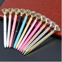 China Fashion design Colorful metal engraving twist crystal ball pen wholesale