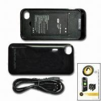 China Battery Case with 1,700mAh Capacity, Suitable for Apple's iPhone 4, Available in Black wholesale