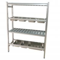 China Convenient Stainless Steel Shelves Space Saving Knocked - Down Structure wholesale