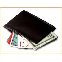 genuine leather wallet with pure blue purse 2012