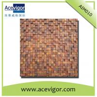 China Wooden mosaic wall tiles with rough surface for wall decoration wholesale