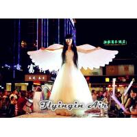 China Pure White Inflatable Angel Wings for Stage, Concert and Festival Decoration wholesale