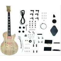 China DIY Les Paul Style Solid Electric Guitar Kits With Spalted Maple Veneered AG-LP3 wholesale