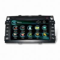 China Car DVD Player for Kia Sorento with Built-in GPS and Rear-view Camera Input wholesale