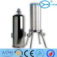 China Stainless Steel Inox Precision Sanitary Filter Housing Flange Clamp on sale
