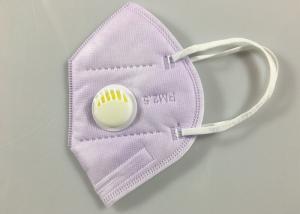 China Light Purple Non Woven Flat Fold KN95 Dustproof Mask wholesale