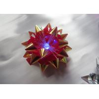 China Transparent LED Glowing gift ribbon flower bows with LED light for celebration party wholesale