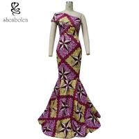 China African Lady / Female Wax Fabric African Style Dresses Fashion Sexy 100% Cotton wholesale