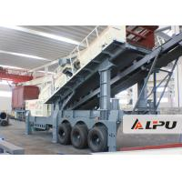 China Wheel Type Axle Complete Mobile Crushing And Screening Plant , Mobile Rock Crusher on sale
