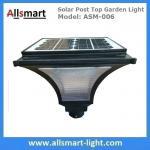 China Outdoor Solar Post Top Garden Lights Bulb Garden Pole Lamp Singe Head Post Lamp with 20W Solar Panel wholesale