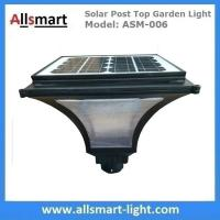 China Outdoor Solar Post Top Garden Lights Bulb Garden Pole Lamp Singe Head Post Lamp with 20W Solar Panel wholesale