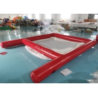 China 0.9mm PVC Tarpaulin Yacht Inflatable Rectangular Swimming Pools Anti Jellyfish wholesale