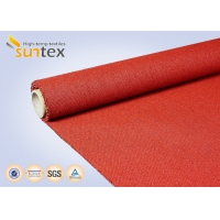 Quality 960 G/sqm Red Silicone Coated Fiberglass Fabric For Heat And Cold Insulation for sale