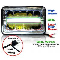 China 5 Inch 45W LED Headlights Jeep Wrangler Hi / Low Beam Square Waterproof wholesale