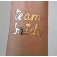 China Team Bride Temporary Wedding Metallic Tattoo Stickers Waterproof Removable wholesale