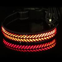 China Safe LED Dog Collar USB Rechargeable , Waterproof Glow In The Dark Dog Collar wholesale