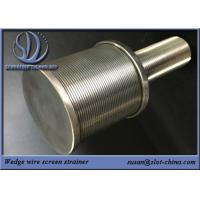 Buy cheap SS High Pressure Water Spray Nozzle Filtration Solid Stream Wedge Wire Screen from wholesalers