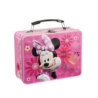 China Disney Minnie Metal Lunch Tin Tote   Disney Jr. Mickey Mouse Lunch Tin Tote for Puzzle  Disney Mickey & Minnie Large wholesale