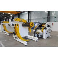 Accuracy 0.05mm Autoamtic Metal Coil Decoiler + Straightener + Feeder For Car Accessories Industry