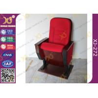 China Public Folded Veneer Auditorium Chairs / Red Lecture Hall Seating wholesale