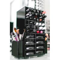China High clear customized acrylic spinning lipstick holder rotatable makeup organizer wholesale