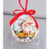 China Christmas Ball Ornament, Made of EPS Material, Full Color Printing wholesale