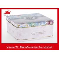 Buy cheap Vintage Square Tin Cans Cookie Packaging from wholesalers