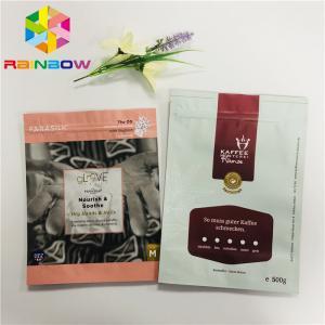 China Moisture Barrier Aluminum Foil Stand Up Pouch Bags Coffee Bean Ziplock Plastic wholesale