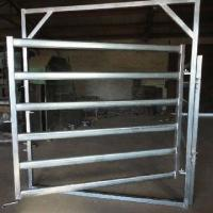 China Galvanized  Round Oval 40mm 6-bar Rail Livestock Sheep Panels wholesale