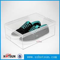 China Display Racks Showcase Clear Transparent Acrylic Shoe Box for wholesale wholesale
