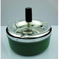 China Round Metal Table Ashtray With Spin Cover on sale