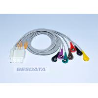Quality 3 / 5 / 7 Leads Snap Ender ECG Cables And Leadwires For Patient Monitoring System for sale