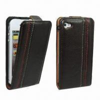 China Leather Case for iPhone, with 100pcs MOQ, Comes in Various Colors, OEM/ODM Orders are Welcome wholesale