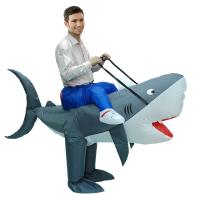 China Outdoor Parade Funny Adult Costumes , Man Eating Shark Halloween Inflatable Costumes wholesale
