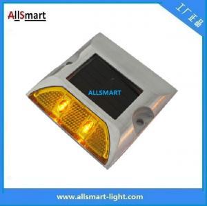 China Solar road stud ASD-005 single line 2leds square shape solar traffic warning lights wholesale