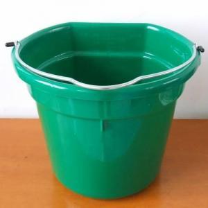 China Flat back plastic feed buckets 19L wholesale
