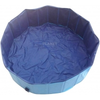 China Blue 0.3cm Pvc Large Foldable Pet Wash Tub For Dog Cat Swimming wholesale