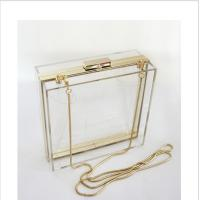 China Lucite acrylic clutch box / clear acrylic storage containers For Girls wholesale