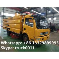 China dongfeng 4*2 LHD 120Hp diesel street sweeper truck with factory price, hot sale best price dongfeng road sweeping truck wholesale