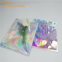 China Cosmetic Holographic Aluminum Foil Bags Clear Window Gravure Printing wholesale