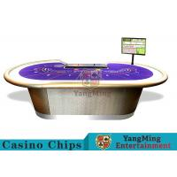 Professional Luxury BaccaratPoker Game TableWith Chip Tray For 9 Players