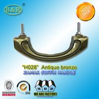 China Metal hardware zamak Coffin Handles, Bronze Color and High Polished H028 size 17.5*7 cm wholesale