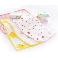 China Simple Infant Baby Accessories With Reactie Dyes Printed Colorful Lovely Handkerchieff wholesale