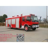 China Isuzu fvr  4x2 6m3 water tank fire fighting truck 4x2 6m3 water tank fire fighting truck on sale