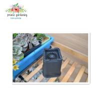 Quality Outdoor Garden Plant Accessories , Square Plastic Flower pots for sale