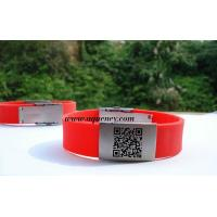 China Wholesale Medical ID Bracelet, Sport ID Bracelets,Cheap color QR Code ID Bracelet wholesale